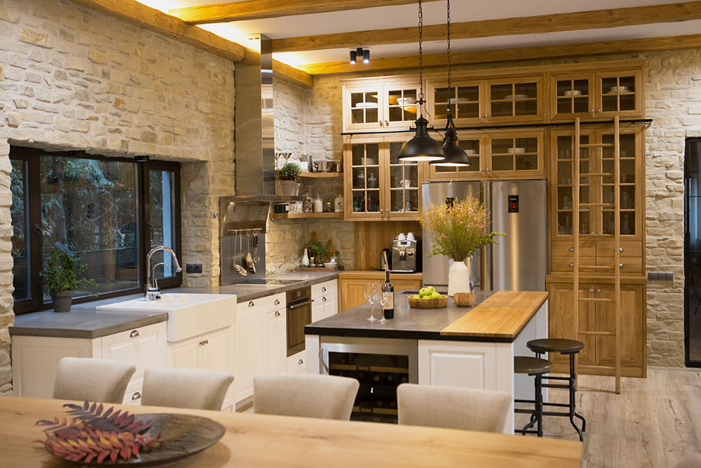 Country kitchen in a private home