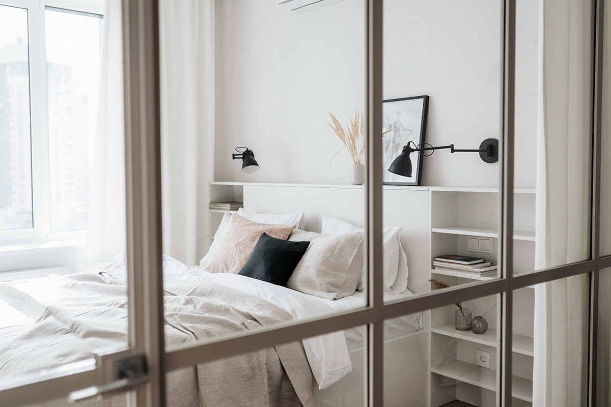 Warm Scandinavian apartment for young family